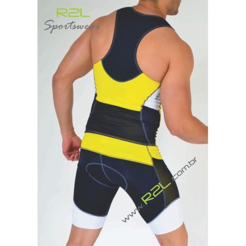 7ef2d9927 Top Triathlon (Linha Attack) - Branco e amarelo