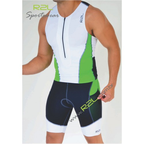 cba8d05b7 Top Triathlon (Linha Attack) - Branco e verde