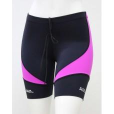 Bermuda Swim Training - feminina - Preta com detalhe rosa