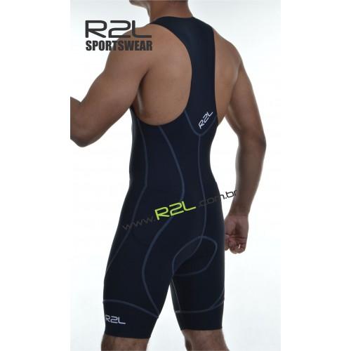 8b03ad9fe Macaquinho Triathlon (Linha Attack) - preto com costura cinza -1410